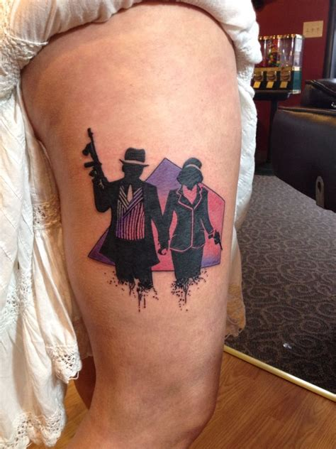 Tattoo Bonnie and Clyde