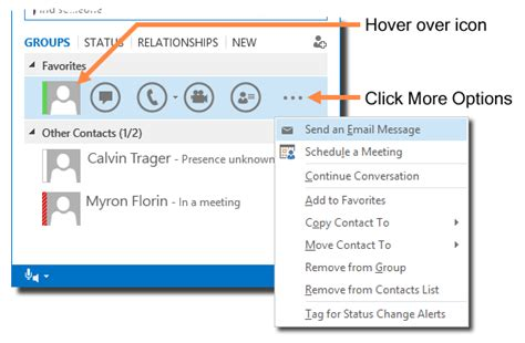 Send Email Messages with Skype for Business for Windows