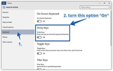 How To Enable Sticky Keys In Windows 10?