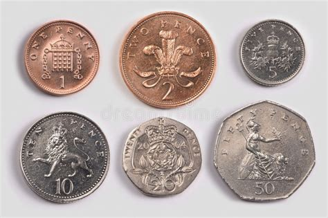 British coins: tails stock photo