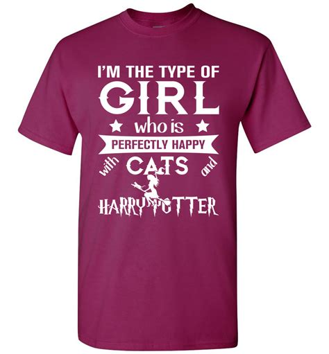 Perfectly happy with Cats and Harry Potter T-shirt - The