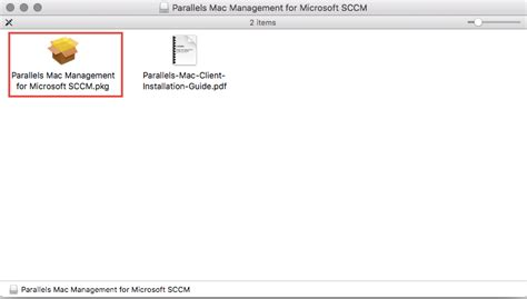 Manually installing the Parallels Mac Management Agent for
