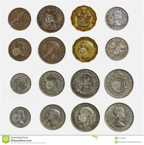 Old English Currency Stock Photo - Image: 47148443