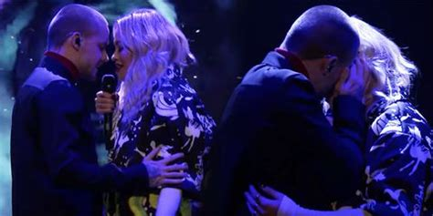 Did Liam Payne and Rita Ora Just Kiss Live on National