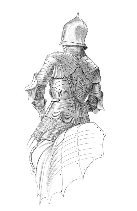 German Suit of Armor (Back) – Old Book Illustrations