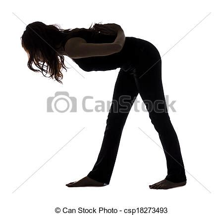 Intense side stretch pose, silhouette Picture | csp18273493