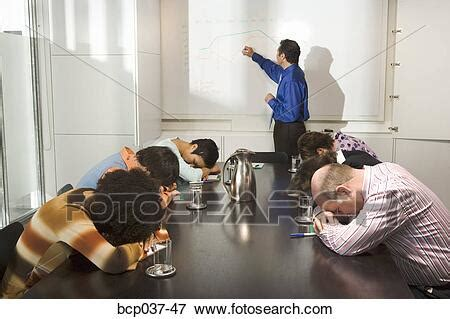 Picture of Co-workers falling asleep during presentation