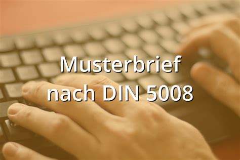 Musterbrief nach DIN 5008 - Musterix