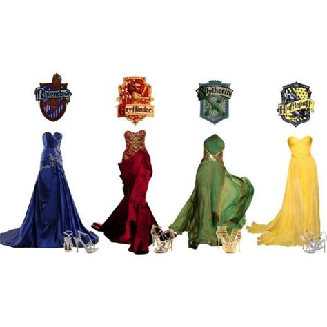 """""""Hogwarts Houses's Yule Ball Gowns"""" by music-is-life-and"""