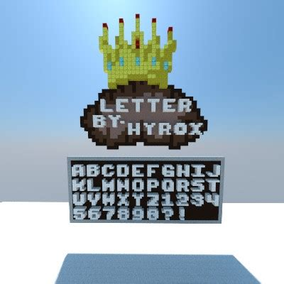 Letters And Numbers [3x3] [DOWNLOAD] Minecraft Project