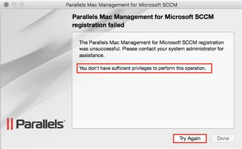 Manually installing the Parallels Mac Management Agent