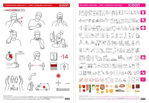 Flyer with 300 symbols and German-learning poster for free