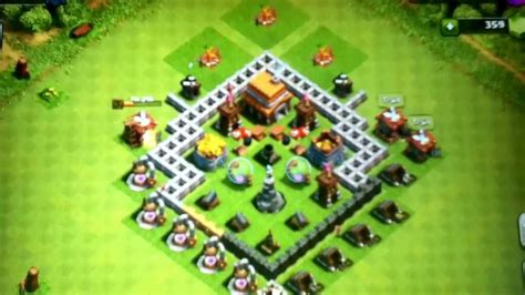 The best defense strategy and set up for town hall 5 clash