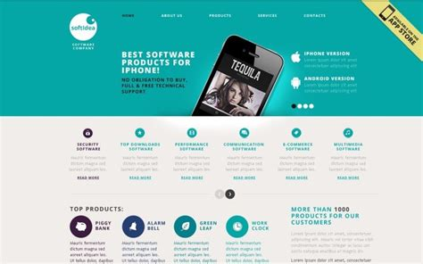 Software Company Website Template #40477